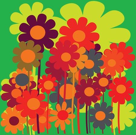 vector flower background design  Stock Vector - 5994491