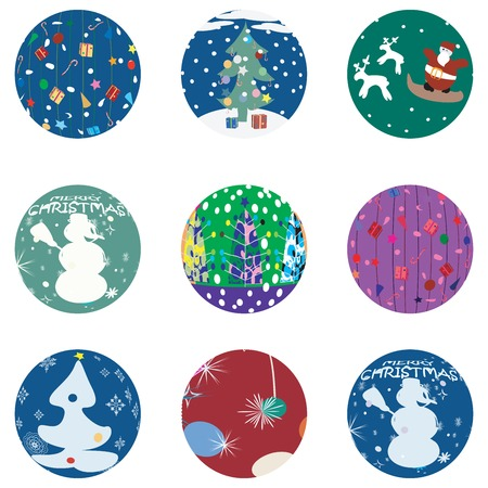 newyears: Christmas and NewYears Evebuttons collection Illustration