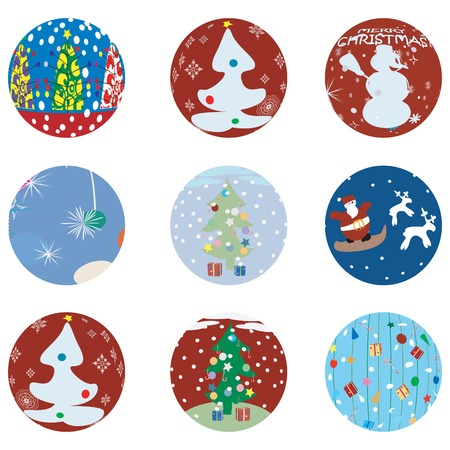 newyears: Christmas and NewYears Eve icons collection