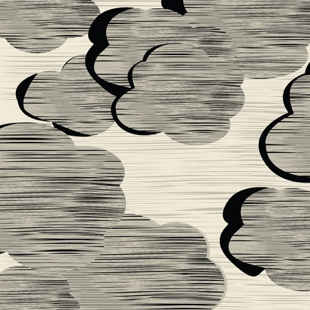 Clouds texture, background sketch of storm clouds Stock Vector - 6057616