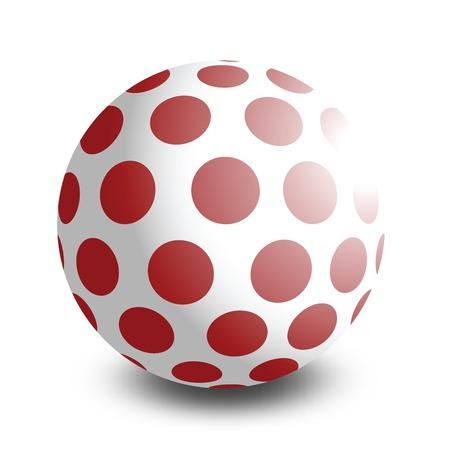 bal: illustration of a toy bal, isolated on white background  Illustration