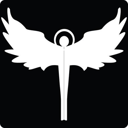 silueta de angel: Icono de silueta de Angel para web, ilustraci�n de arte