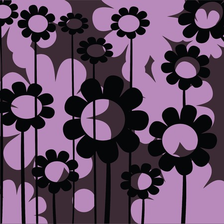 Abstract floral icon for web in purple tones; background art Stock Vector - 6087127