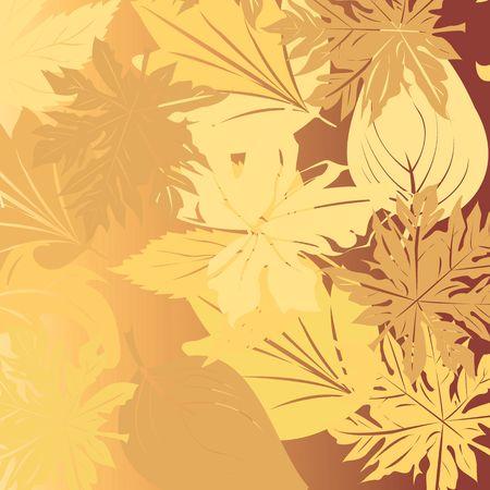 Autumn falling leaves background illustration Stock Illustration - 6107459