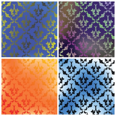 Damask collection backgrounds Stock Vector - 6107477