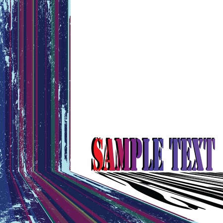 Abstract sample text card with grunge stripes Stock Vector - 6135069
