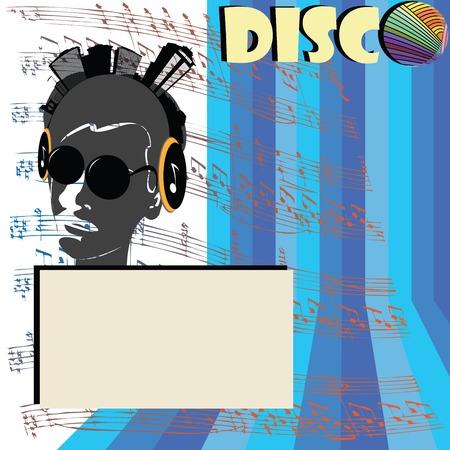 Discoteque flyer illustration Stock Vector - 6135040