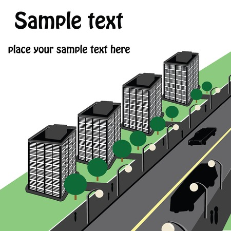 Urban perspective with room for your text Stock Vector - 6135044