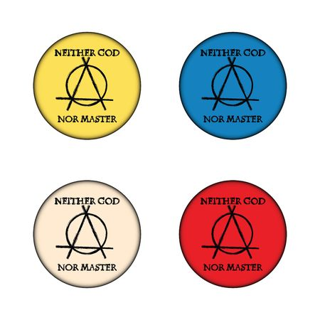 meanness: Anarchy concept buttons on white background