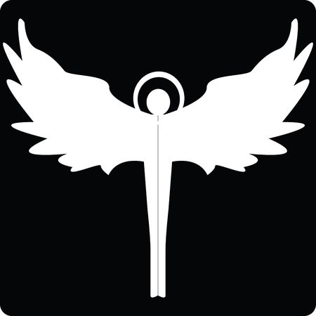 Angel silhouette icon for web, art illustration illustration