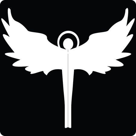 Angel silhouette icon for web, art illustration illustration