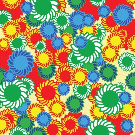 seventies: Hippie floral background Illustration
