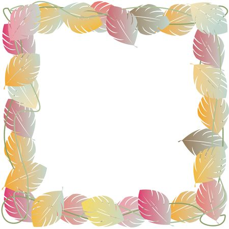 Autumn leaves frame for photos or text Stock Photo - 6196247