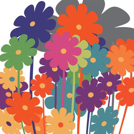 Background with stylized flowers for Valentine's Day Stock Photo - 6196385