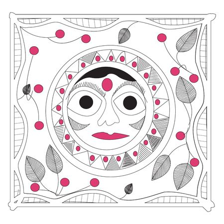 Indian sun, handrawing mandala Stock Photo - 6195700