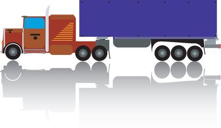 Big truck illustration, art Stock Illustration - 6186976