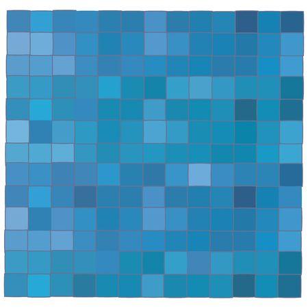 Blue mosaic background illustration, art Stock Illustration - 6197008