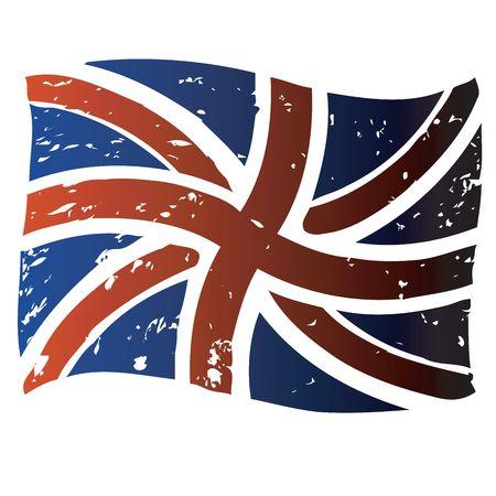 British flag, isolated object on white Stock Photo - 6186964