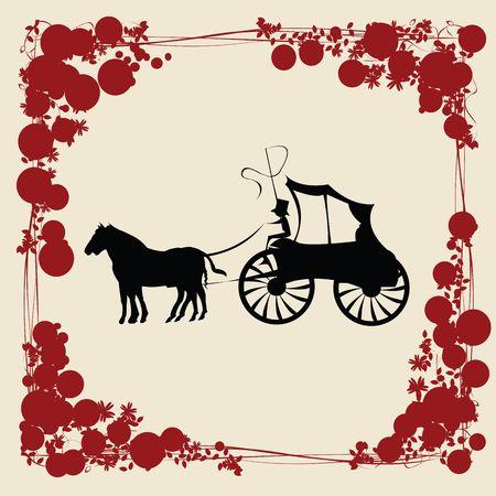 cartwheel: Carriage illustration