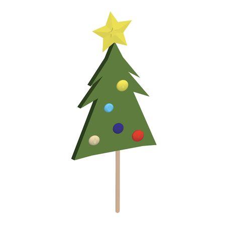 lolipop: Christmas tree lolipop on a stick