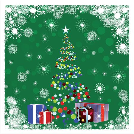 Stylized Christmas tree illustration  illustration
