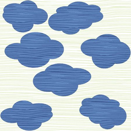 Clouds texture background, illustration Stock Illustration - 6195866