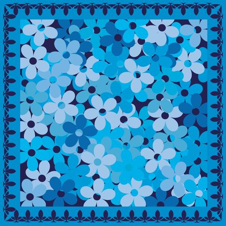 Cold blue flowers card Stock Photo - 6186932