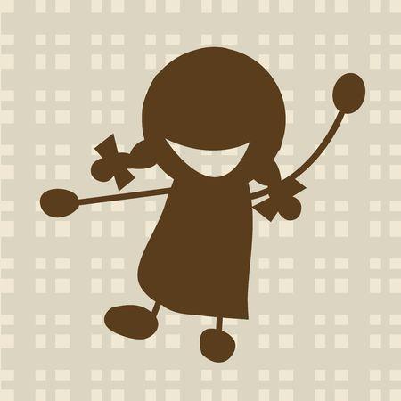 Cute smiling girl, illustration illustration