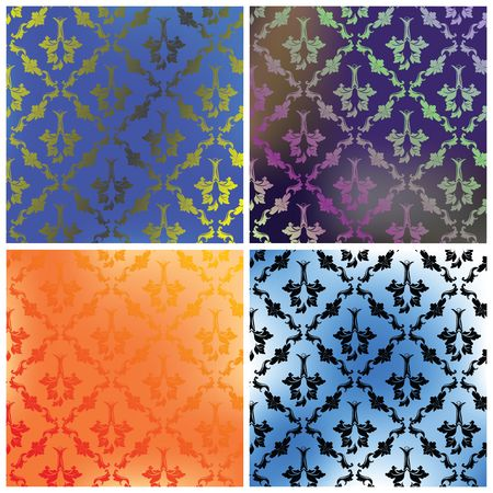 Damask collection backgrounds Stock Photo - 6187346