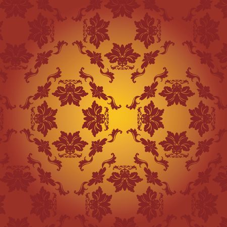 Damask, red, bright Stock Photo - 6196599