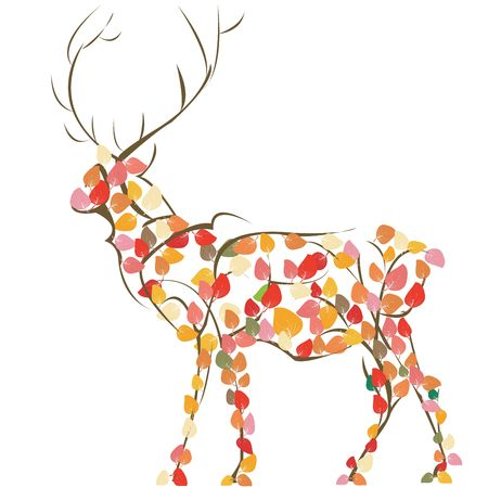 Stylized deer silhouette, art photo
