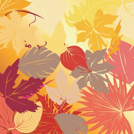 Autumn leaves, art illustration
