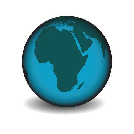 Simple earth globe icon for web design Stock Photo - 6195804
