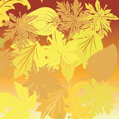 Falling leaves background, art