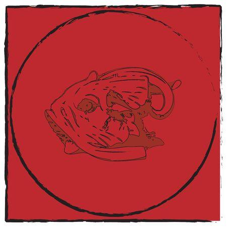 Abstract fish emblem, art Stock Photo - 6186930
