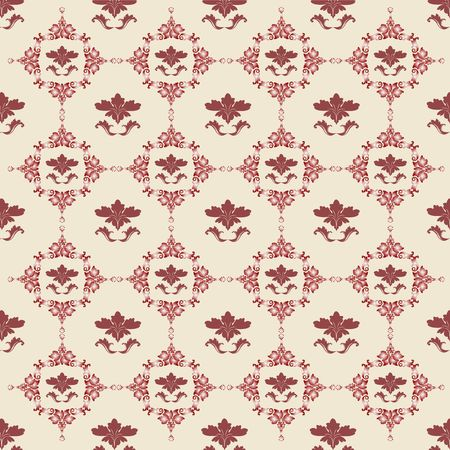 floral background in red, Damask design Stock Photo - 6197152