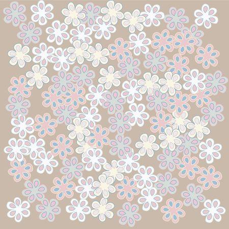 Tan floral background, illustration Stock Illustration - 6187305