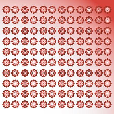artdeco: Floral red background, design Stock Photo