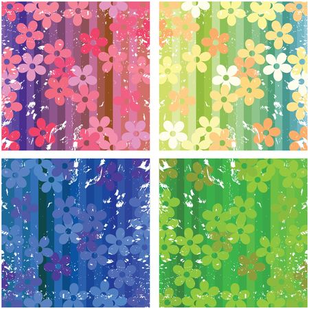 Floral textures with grunge filter for web design Stock Photo - 6197133