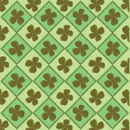 Four leaf background for St. Patrick's Day Stock Photo - 6197324