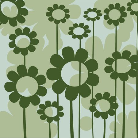 floral button for web design in green tones photo