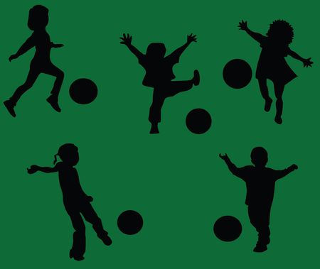 Kids playing soccer photo