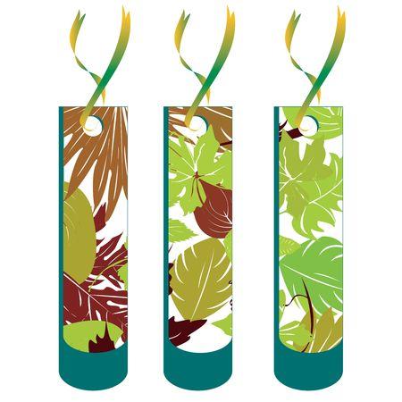 Leaf tag collection, illustration Stock Illustration - 6195628