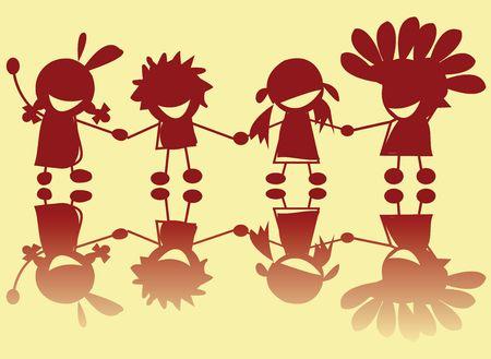 indian boy: Little indians illustration, art