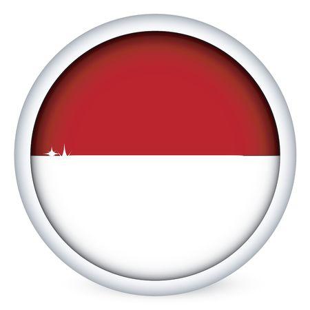 Monaco sphere flag button, isolated on white photo