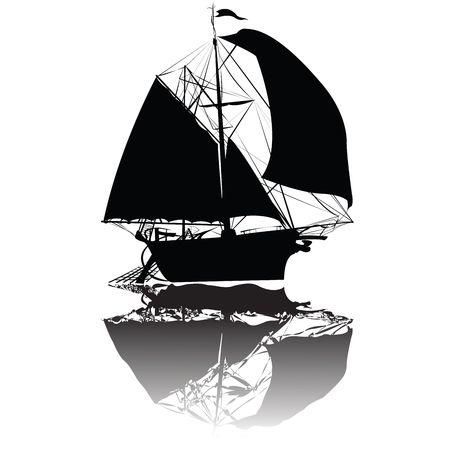 Old fishing ship, art Stock Photo - 6195630