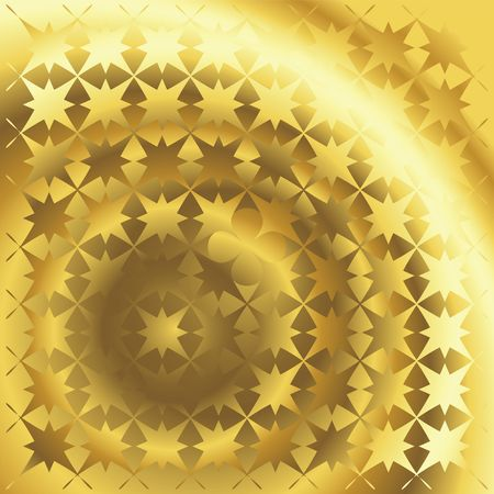 Polished gold texture with floral and stars background Stock Photo - 6196603