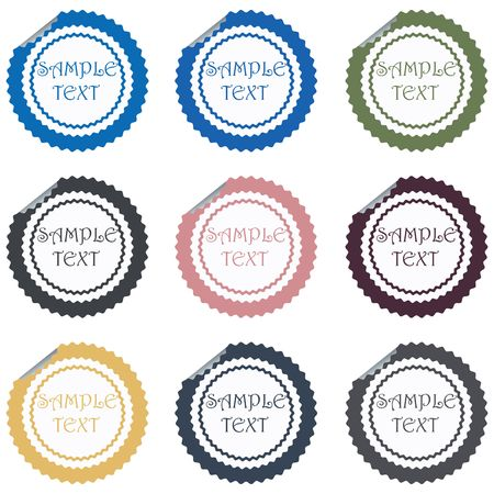 Price stickers set,isolated objects Stock Photo - 6197354