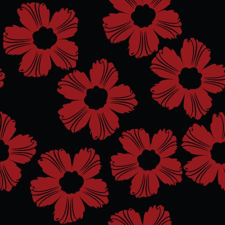 Red floral pattern Stock Photo - 6186967