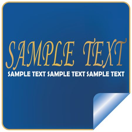 Sample text label, isolated object on white photo